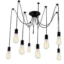 vintage farmhouse lighting. Vintage Edison Pendant Lights, StillCool Hanging Chandeliers Farmhouse Lighting Without Bulbs, Matte Black Finish