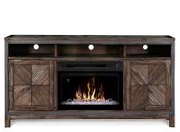 raymour and flanigan electric fireplace tv stand wyatt 64 inch tv console with 25 inch