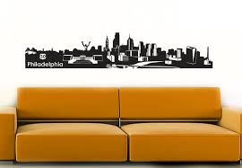 wall decal philadelphia skyline the skyline of philadelphia cities places