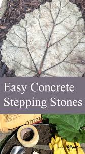 easy concrete stepping stones step by