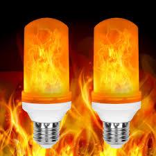 2 Pack Led Flame Effect Fire Light Bulbs E26