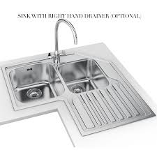 franke studio stx 621 e stainless steel corner inset sink franke kitchen sink waste franke kitchen