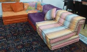 roche bobois mah jong corner sofa in four sections multi coloured each section 100cm w overal