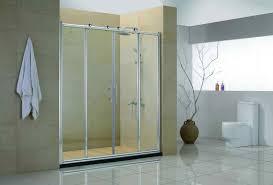 framed sliding shower doors. Inspiring Four Sliding Glass Door With Silver Steel Frame And Handlers Image Of Shower Inspiration Frameless Framed Doors B