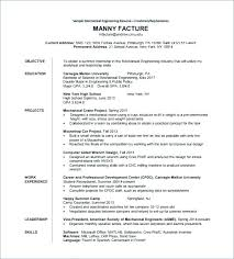 Engineering Student Resume Fascinating Sample Resume For Mechanical Engineer Professional Plus Sample