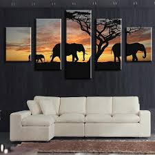 best elephants walking africa wall arts modern home wall decor canvas picture art hd print wall painting canvas arts unframe under 43 41 dhgate com