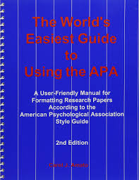The Worlds Easiest Guide To Using The Apa A User Friendly Manual