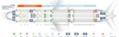 seat map and seating chart boeing 777 200er three cl layout v2 british airways