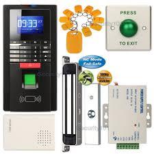 fingerprint rfid card reader system with waterproof 180kg magnetic door lock