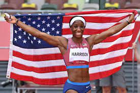 Keni Harrison wins silver in women's ...