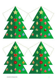 Printable Christmas Tree Christmas Tree Decorations Number Counting Game