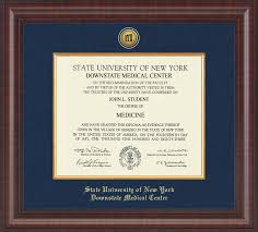 suny downstate medical center presidential gold engraved diploma  suny downstate medical center presidential gold engraved diploma frame in premier item 217067 from fsa university bookstore
