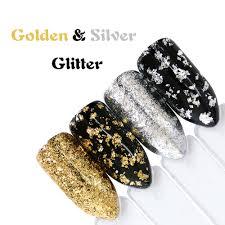 Full Beauty 1 PCS <b>Aluminum</b> Golden Silver <b>Nail Glitter</b> Powder ...