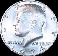 1967 Kennedy Half Dollar Value Chart 1974 Kennedy Half Dollar Value Cointrackers