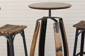 round reclaimed wood pub table designs