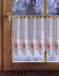 Kerze Mit Weihnachtsstern Rot Rollos Gardinen Vorhänge