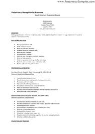 ... Resume Example For Receptionist Resume Example For Receptionist Front  Desk Resume Sample Receptionist Resume Example Veterinary ...