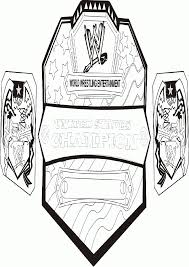 Small Picture Printable Coloring Pages Wwe Inside Championship Belt esonme