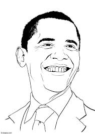 Small Picture Coloring page Barack Obama img 15460