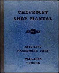 1942 1948 chevrolet car and 42 46 truck wiring diagram manual reprint 1942 1947 chevrolet car 1942 1946 truck repair shop manual original