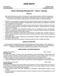 professional retail store manager resume senior marketing management