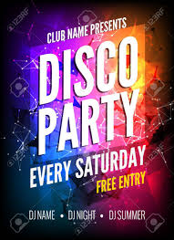 Disco Party Poster Template. Night Dance Party Flyer. Disco Party ...