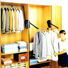 closet awesome pull down rod racks hotel tours led rods hafele light wardrobe lift out
