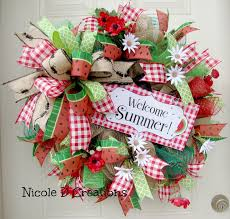 summer wreaths for front door1658 best Spring and Summer Deco Mesh Wreaths images on Pinterest