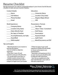 best resume critique checklist resume builders online