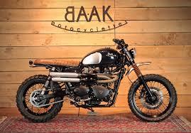triumph scrambler by baak motocyclettes workshop