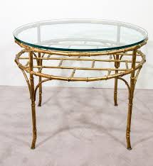 italian hollywood regency occasional table on gilt faux bamboo base
