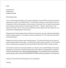 Employee Acceptance of Resignation Letter Word Free Download