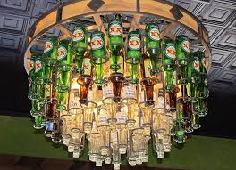 popular bottle chandelier