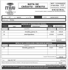 Notas De Credito Debito Ejemplo Bolivia Impuestos Blog