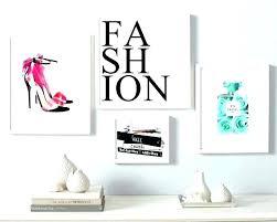 vogue wall decor vintage fashion wall art vogue set print coco perfume shoes d amusing vogue wall decor