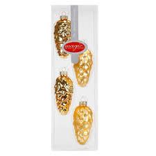 Goldene Zapfen 9 Cm 4er Set