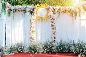 Wedding Photo Background Beautiful Flowers Background For Wedding Scene Happy Outdoor