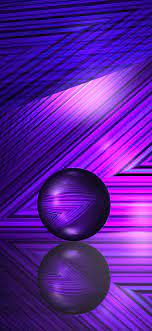 1125x2436 Purple Lines And Ball 5k ...