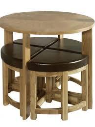 round storage table 4 stools