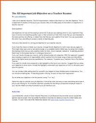 Objective For Teacher Resume teacher resume objective resume name 59