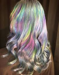 Holographic Hair Reminds Me Northern Lights