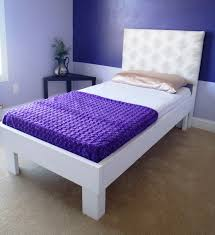 modern twin bed. Upholstered Modern Twin Bed (Regular)