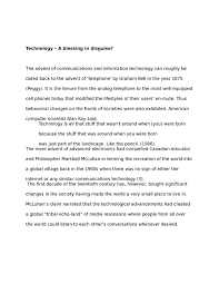 blessing in disguise essay technology a blessing in disguise  technology a blessing in disguise essy studentsharetechnology a blessing in disguise essay example