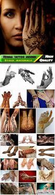 индийские татуировки хной в стиле менди на руках и ногах фотосток