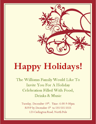 Free Holiday Party Templates Christmas Party Invitations Templates Microsoft Christmas