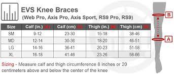 Evs Knee Brace Size Chart Evs Web Pro Knee Brace Pair Riding Gear Rocky Mountain