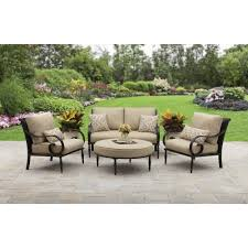 better homes and gardens englewood heights ii aluminum 4 piece outdoor patio conversation set seats 4 com