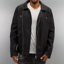urban classics jacket lightweight leather imitation biker in black men urban classics jacket duffle wool pepper salt usa factory