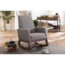 Belham Living Holden Modern Indoor Rocking Chair - Upholstered -  Buttercream | Hayneedle