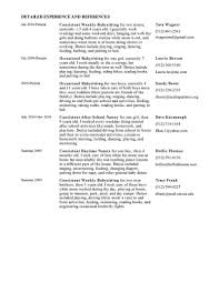 Babysitter Job Description Resume Awesome Resume Examples For Nanny